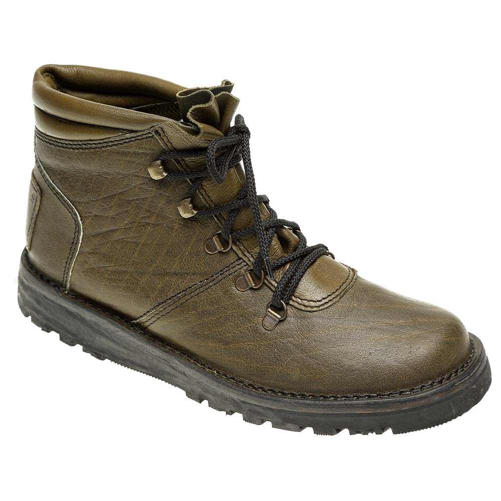 The Courteney Warrior In Olive Leather Safari Boots