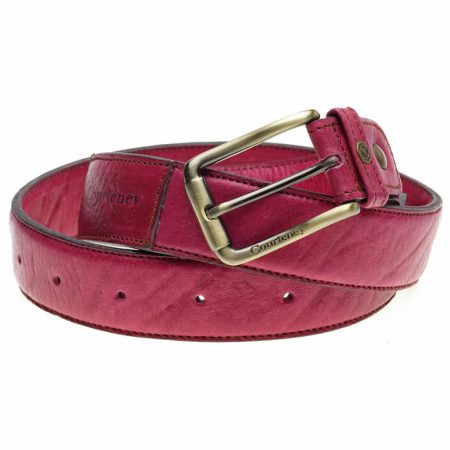 Courteney Belt in Berry Leather