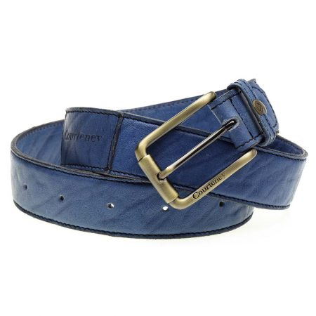 Courteney Belt in Denim Leather