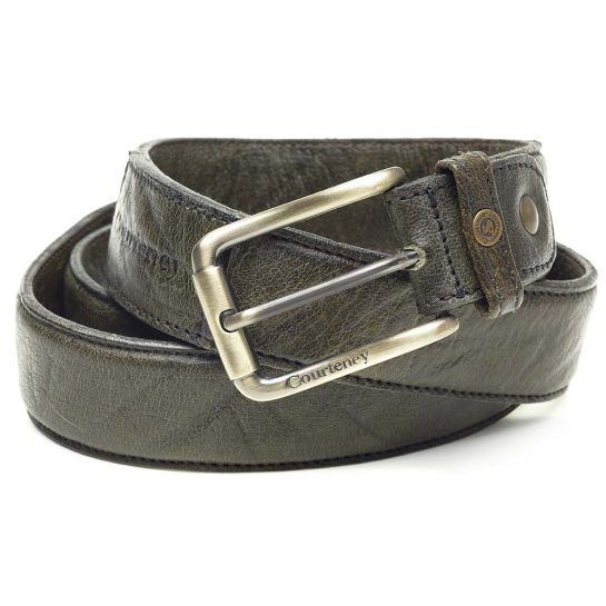 Courteney Belt in Olive Leather