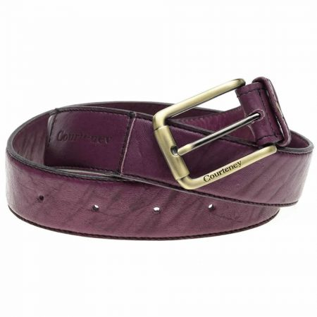 Courteney Belt in Plum Leather