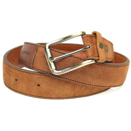 Courteney Belt in Tan Suede