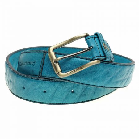 Courteney Belt in Turquoise Leather