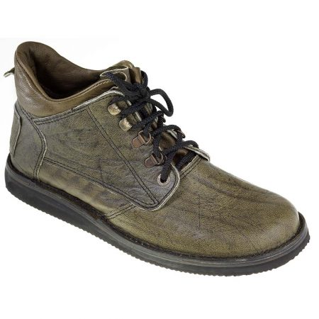 Courteney Hunter Safari Boot in Olive Leather