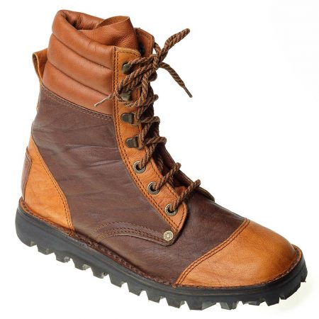 Courteney Patrol Safari Boot in Two Tone Leather