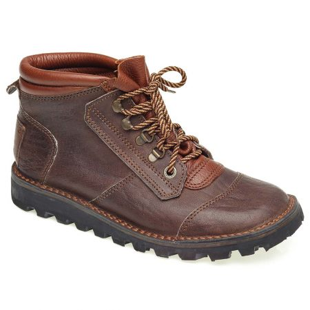 Courteney Safari Boot in Brown Buffalo Leather