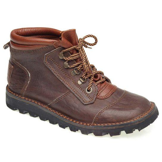 Courteney Safari Boot in Brown Buffalo Leather