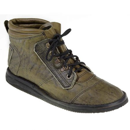 Courteney Safari Boot in Olive Leather