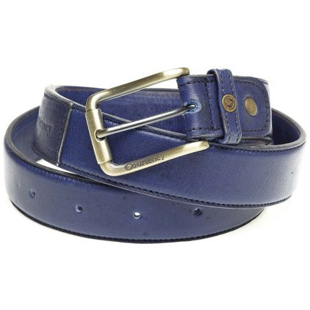 Courteney Belt in Royal Blue Leather