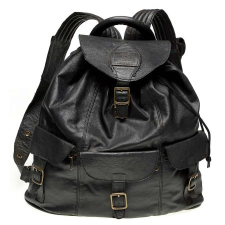Haversack-Black-Leather