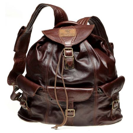 Haversack-Chocolate-Leather
