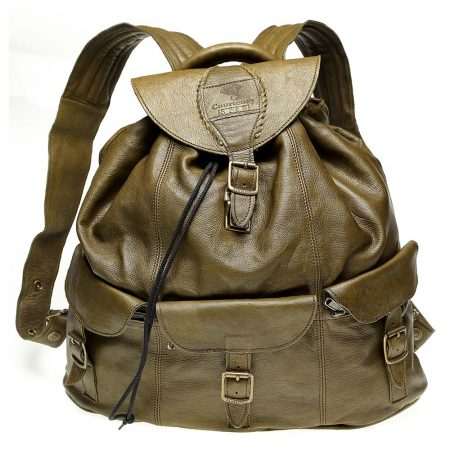 Haversack-Olive-Leather