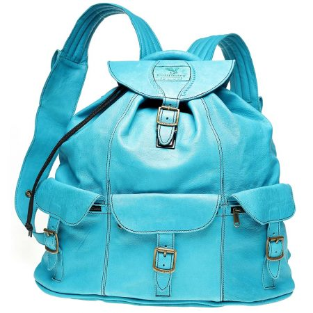 Haversack-Turquoise-Leather